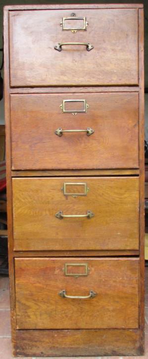 Original antike englische Kommode Aktenschrank Filing Cabinet Eiche Massivholz 1920