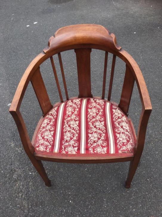 Edwardische original antike Mahagoni Massivholz Stühle Armstühle 1890
