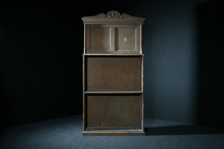 Original Englisches Antikes Viktorianisches Bücherregal aus massivem Kieferholz in Originalfarbe ca 1850