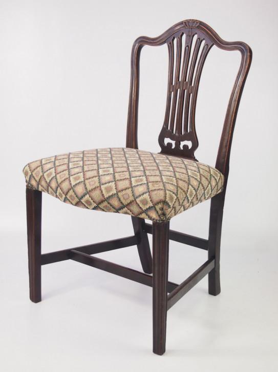 Antiker Englischer Georgischer Mahagoni Stuhl Beistell Schreibtisch aus Mahagoni aus dem 18.JH