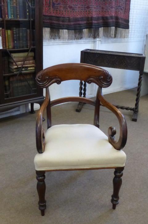 Antiker Englischer Regency Stuhl aus Mahagoni von ca. 1830