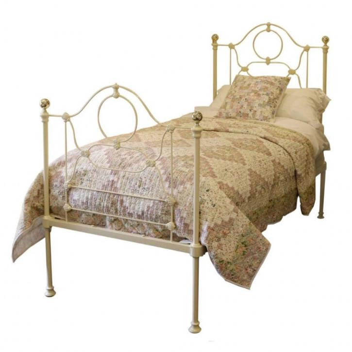 Antikes viktorianisches Gusseisen Bett Bettrahmen Einzelbett 1880