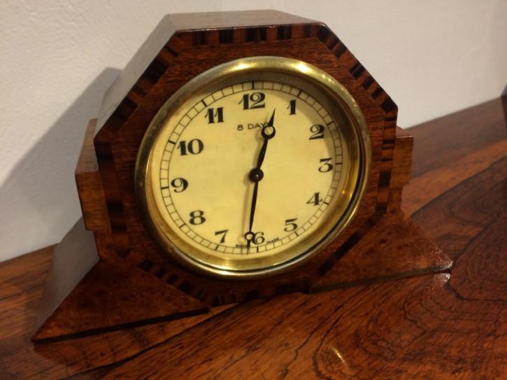 Antike Original Art deco Kaminuhr mit schweizer Uhrwerk von ca. 1930