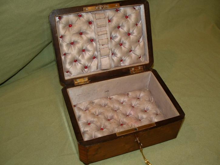 Antike Original Maple + Boulle-Stil Intarsienbox Truhe von ca. 1870