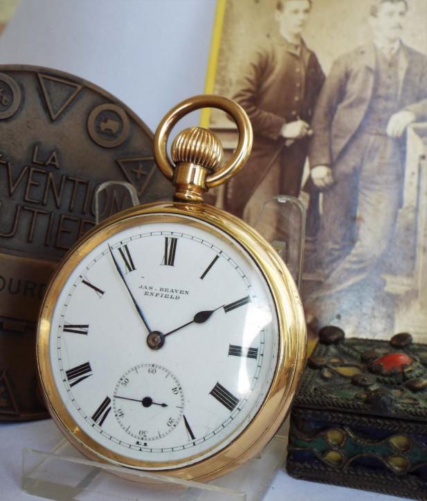 Original Antike Englische Taschenuhr der 1930er Jahre