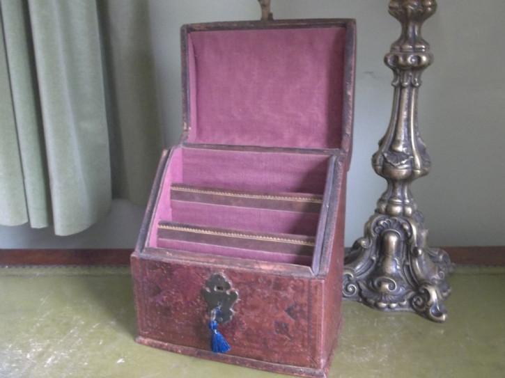 Antike Original Englische Brief Schachtel aus dem 19. JH
