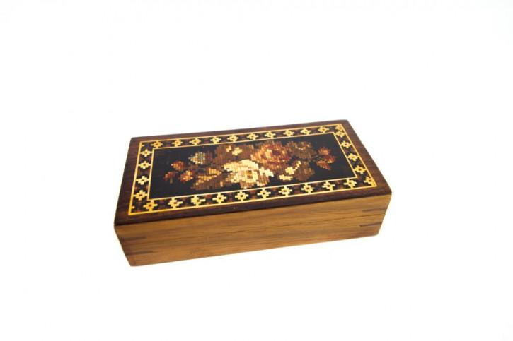 Original Englische Antike Tunbridge Aufbewahrungsbox von ca. 1870