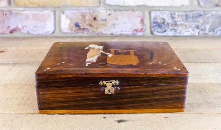 Englische Palisander Box antik von ca. 1920