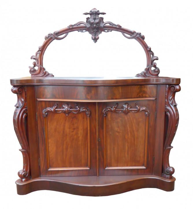 Original Antikes Englisches Viktorianisches Mahagoni Sideboard von ca. 1860
