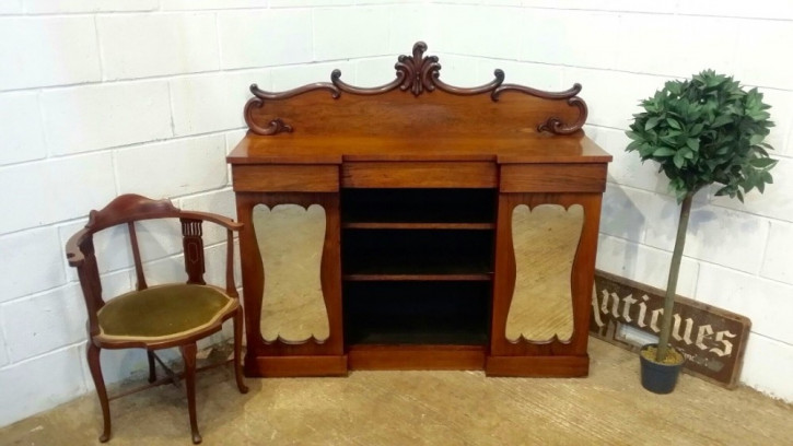 Antikes Original Englisches William IV Mahagoni Breakfront Sideboard ca. 1830