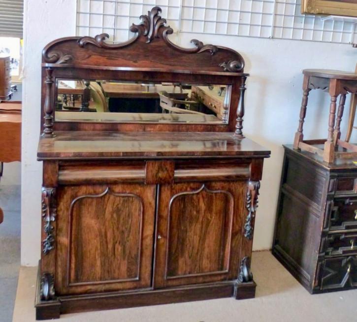 Original antikes viktorianisches Palisander Sideboard englisch 1850
