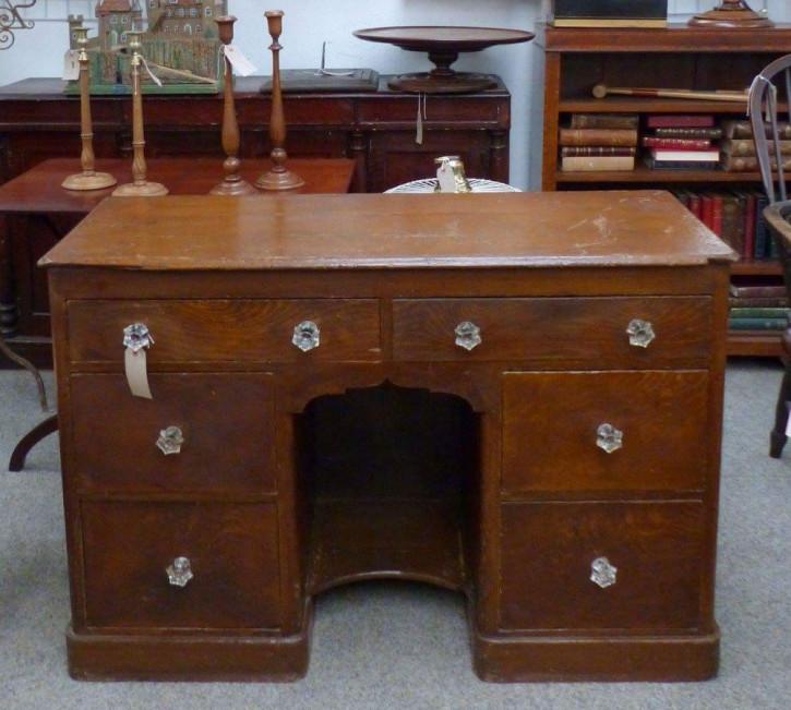Englischer original viktorianischer Beistelltisch Kiefer Schreibtisch 1850