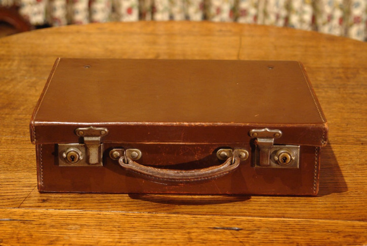 Kleiner original antiker Koffer Echtleder englisch 1930