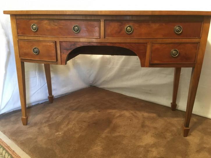 Original viktorianischer englischer Mahagoni Schreibtisch antik 1850