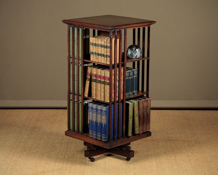Edwardianisches Bücherregal drehbar Revolving bookcase original antik 1910