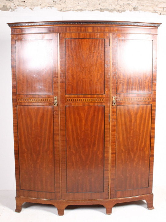 Antiker georgianischer Mahagoni Kleiderschrank original englisch 1920