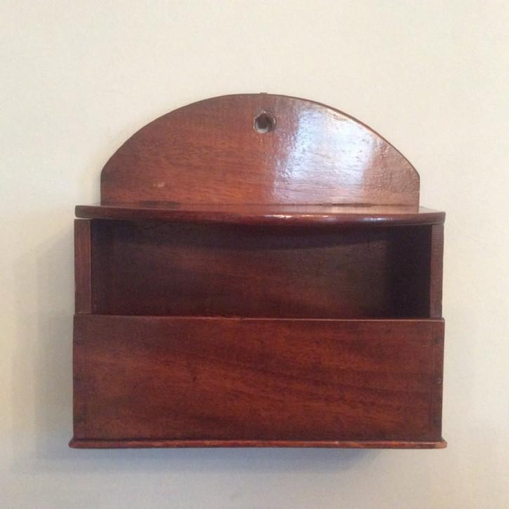 Antike englische Mahagoni Kerzenbox Kerzenkasten 1850