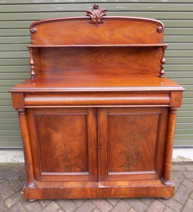Viktorianisches englisches Mahagoni Sideboard original antik 1850