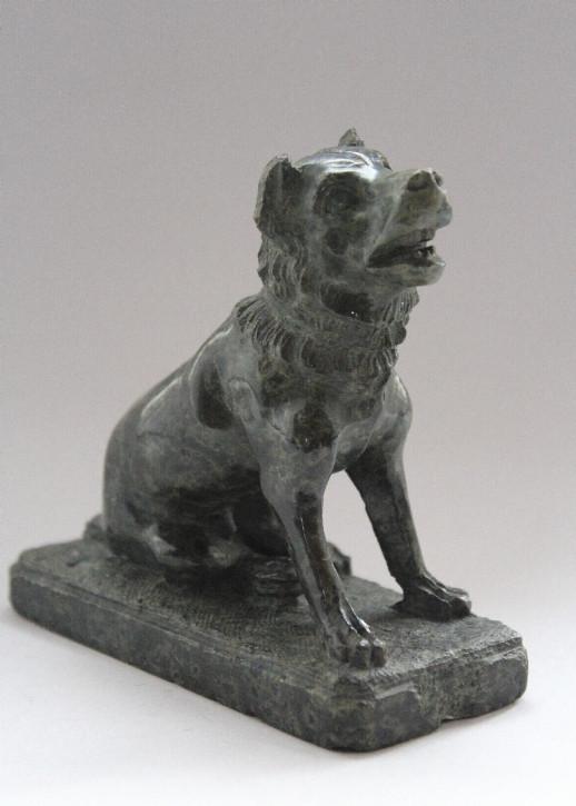 EnglischeAntike Skulptur des Hundes von Alcibiades 1850