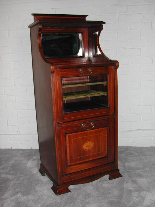Viktorianischer original antiker Musikschrank Mahagoni England 1850