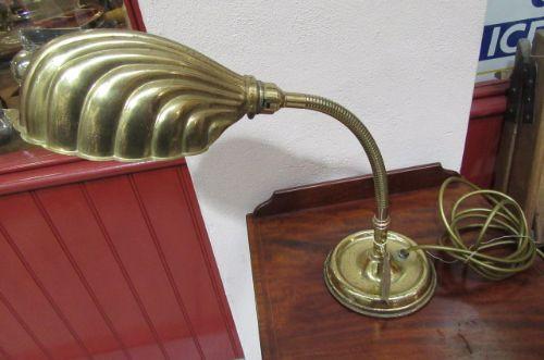 Antike Englische Edwardianische Schreibtischlampe ca. 1930
