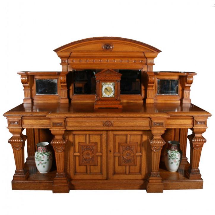 Sehr gutes antikes Englisches Viktorianisches Eiche Sideboard ca. 1870