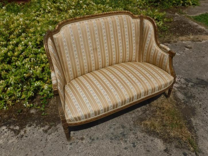 Original Antikes Englisches 2-Sitzer-Sofa ca. 1910