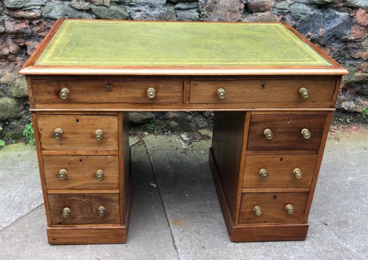 Kleiner original antiker Mahagoni Schreibtisch englisch 19. Jh