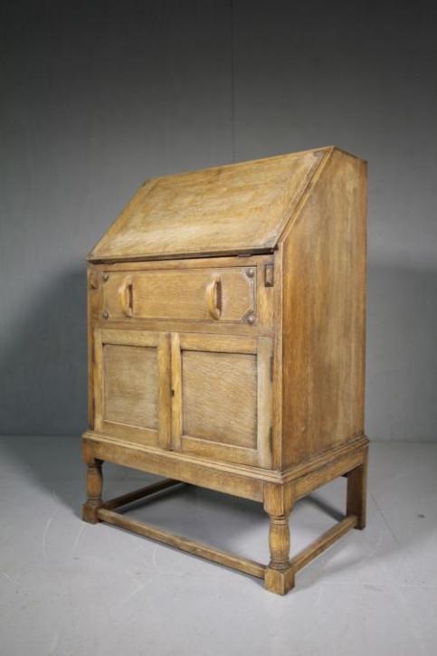 Original antiker Eichen Sekretär Harrods England 1920