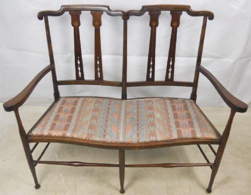 Original Antikes Englisches Edwardianisches Mahagoni Sofa ca. 1900