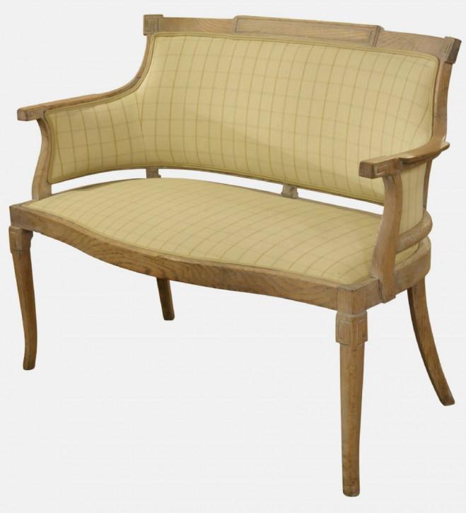 Original antikes englisches Eichen Continental Sofa ca. 1900