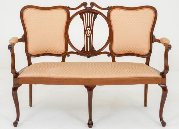 Original Antikes Englisches Viktorianisches Mahagoni Sofa ca. 1890