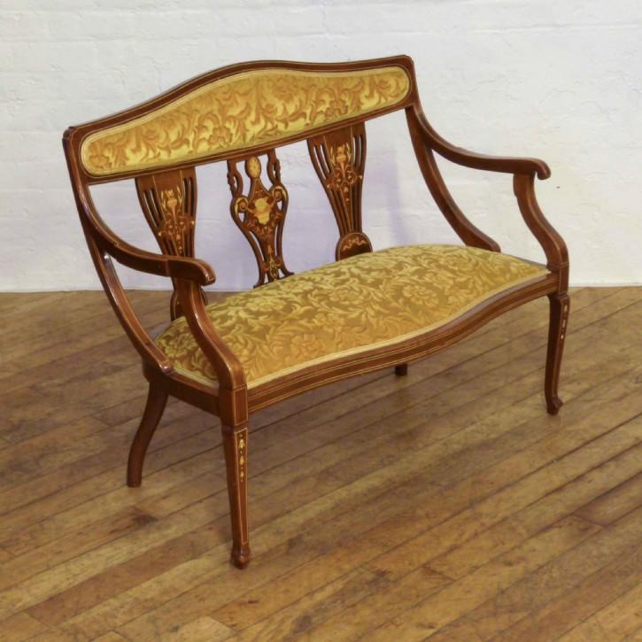 Edles Antikes Englisches Edwardianisches Mahagoni Sofa ca. 1905