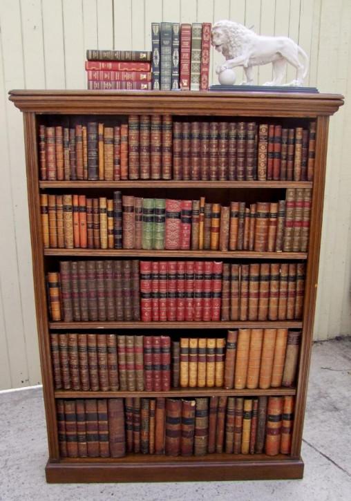 Original Antikes Englisches offenes Eichen Bücherregal ca. 19. JH
