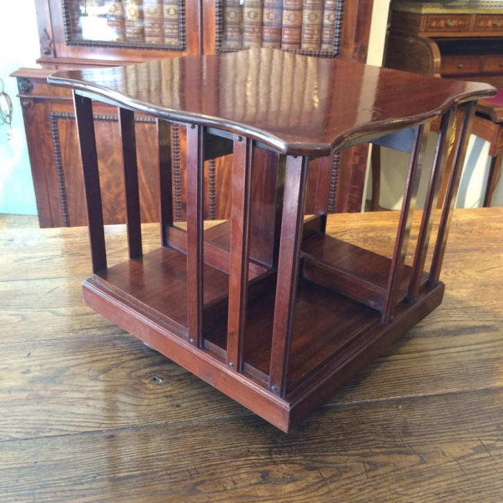 Original antikes Mahagoni Revolving Bookcase Tisch England 1890