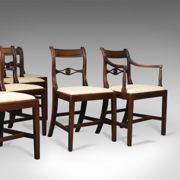 6 Original Antike Regency Esszimmerstühle Mahagoni ca. 1820