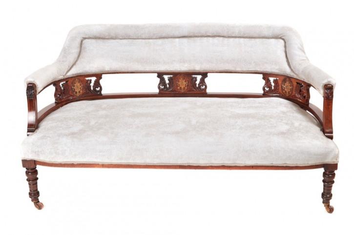 Edwardianisches original antikes Palisander Sofa englisch 1890