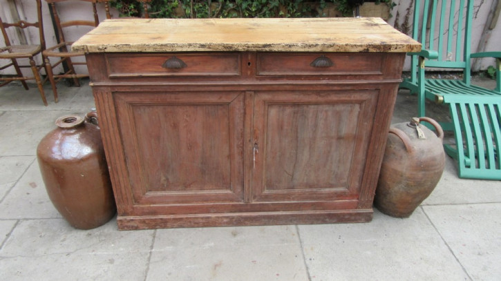 Original französisches Landhaus Sideboard Massivholz antik ca 1850