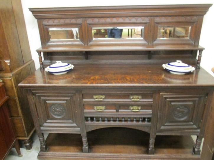 Original antikes Eichen Sideboard englisch ca 1890