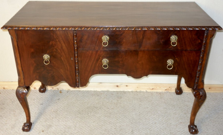 Original antikes englisches Mahagoni Sideboard 1920