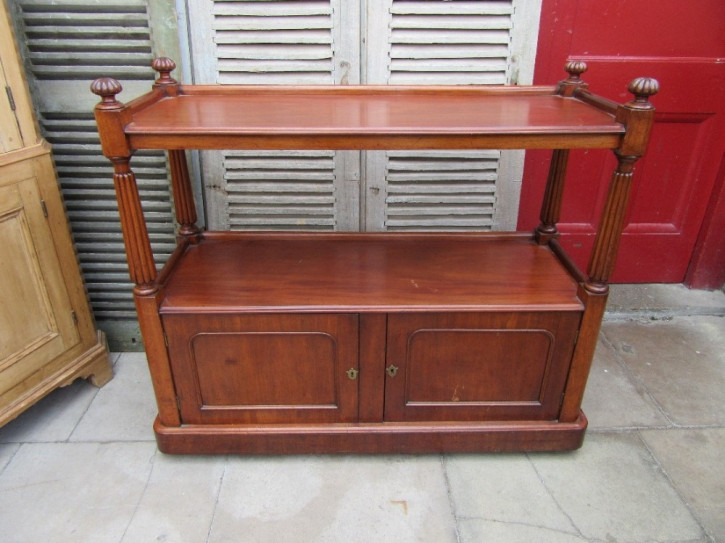 Original antikes viktorianisches Mahagoni Sideboard britisch 1850