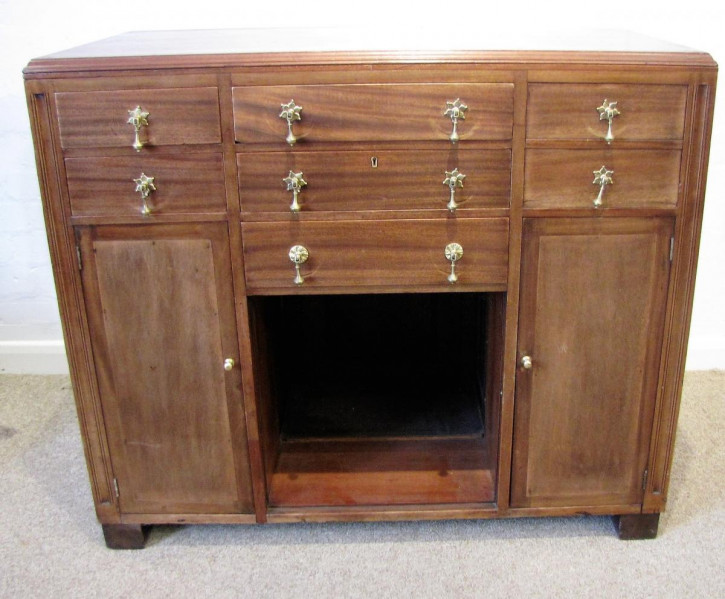 Tolles englisches antikes Art Deco Sideboard 1920