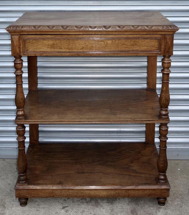 Original Antikes Englisches Viktorianisches Eichen Sideboard ca. 1890