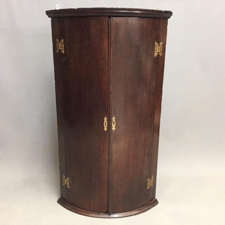 Original Antiker Englischer Georgianischer Eichen Hänge Eckschrank ca. 1780