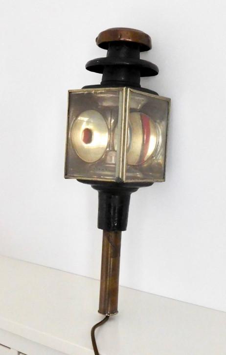 Seltene Antike Englische Kutschenlampe ca. 1910