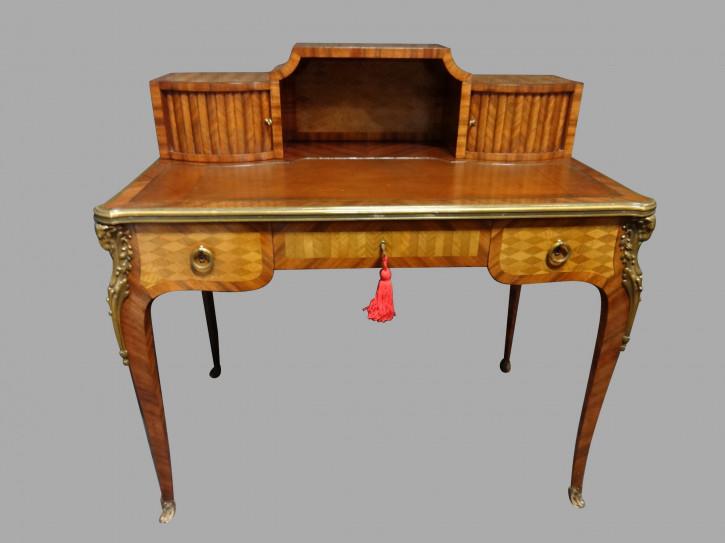 Eleganter Antiker Französischer Parkett Damen Schreibtisch ca. 1900