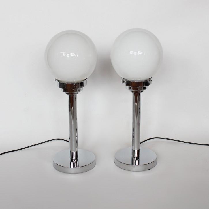 Original Antikes Englisches Paar Art-Deco Tischlampen ca. 1930