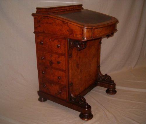 Original antiker Nussbaum Davenport Schreibtisch englisch 1870