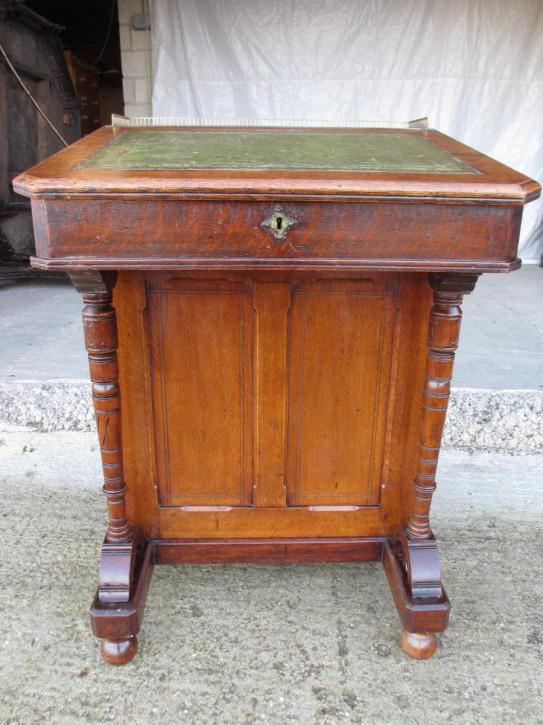 Attraktiver Antiker viktorianischer Davenport Schreibtisch Eiche englisch ca 1850