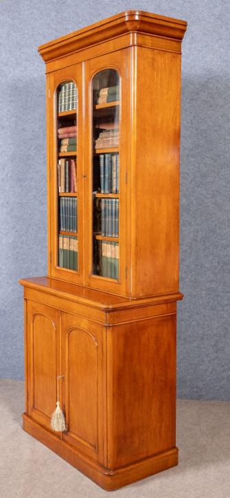 AtemberaubenderAntiker Englischer Viktorianischer verglaster Eichen Bücherschrank ca. 1880